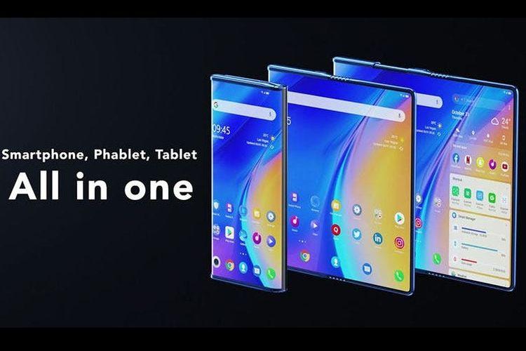 TCL pamer prototipe ponsel yang bisa dilipat dan digulung.