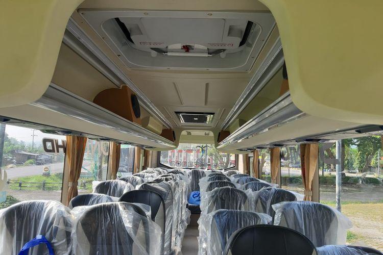 Kabin medium bus Sonic MHD karoseri Anugrah