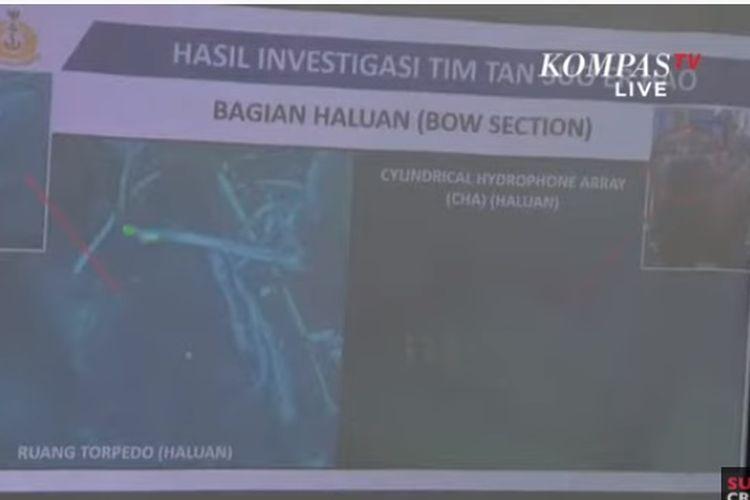 Kapal milik China telah menemukan lokasi bagian anjungan, haluan, dan buritan KRI Nanggala-402.