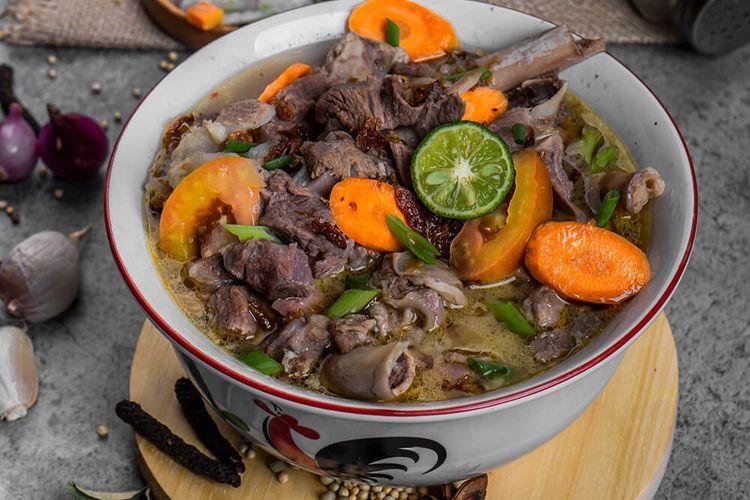 Sop kambing di Nasi Goreng Kebon Sirih