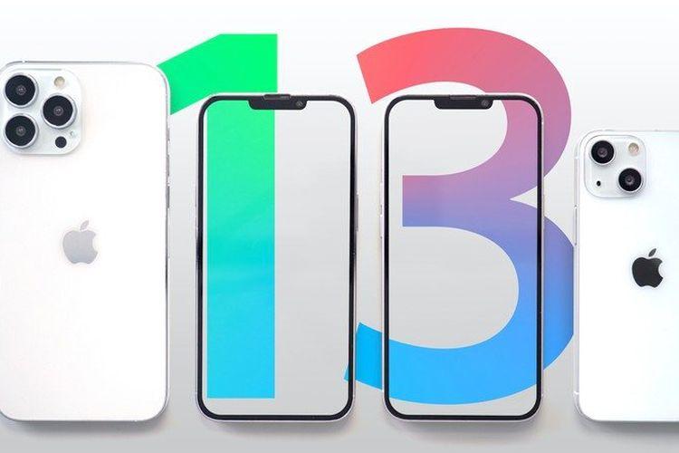 Ilustrasi iPhone 13.