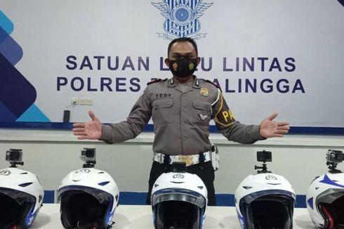Polisi Solo Dibekali Kamera di Helm buat Lakukan Tilang Elektronik