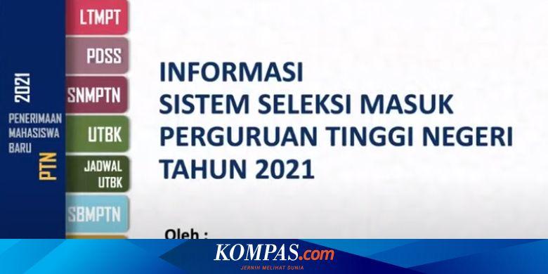 Ikut Seleksi Sbmptn 2021 Ini Tanggal Dan Biaya Pelaksanaan Utbk Halaman All Kompas Com