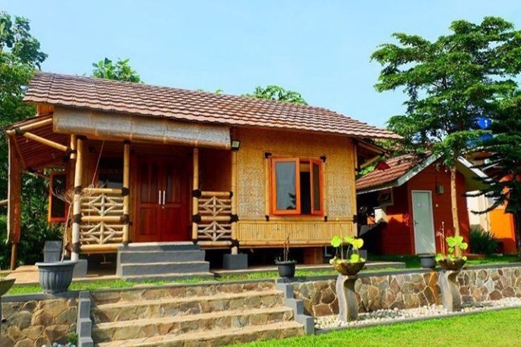 Salah satu villa yang disewakan