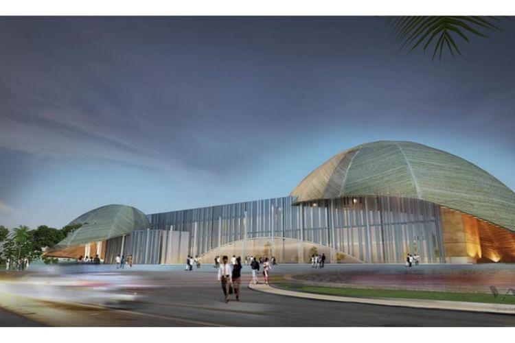 Rencana desain Youth Creative Hub di Kota Jayapura, Provinsi Papua.