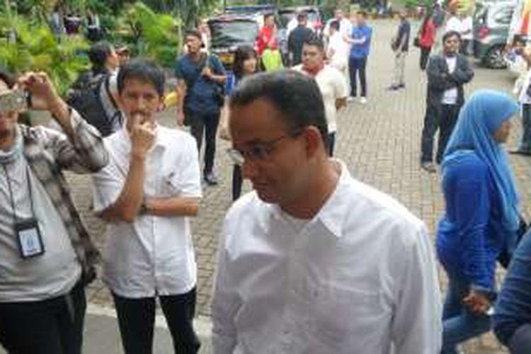 Calon gubernur-calon wakil gubernur DKI Anies Baswedan-Sandiaga Uno menyampaikan sejumlah program saat kegiatan
