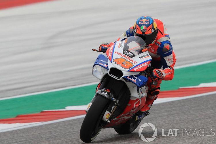 Pebalap asal Australia Jack Miller tempat posisi kedua di MotoGP Australia