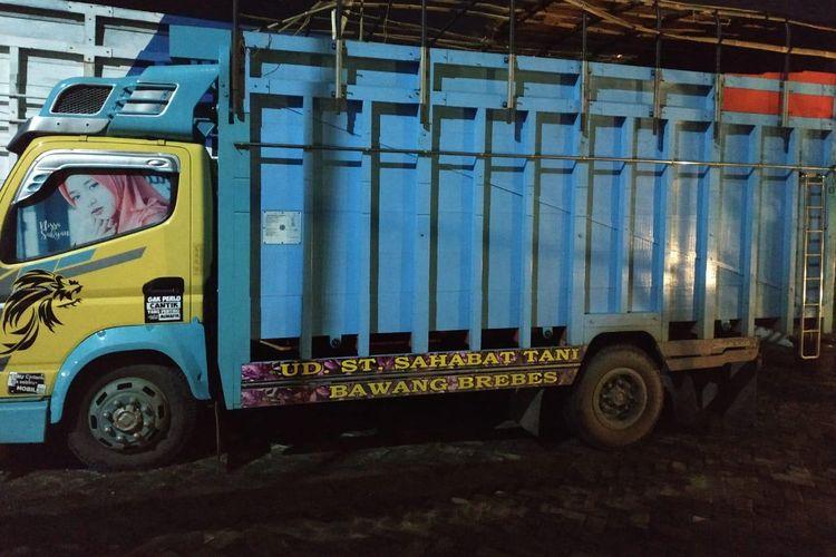 Truk pengangkut sayur kol berisi 35 kg sabu yang ditemukan BNN di Merak, Sabtu (25/5/2019).