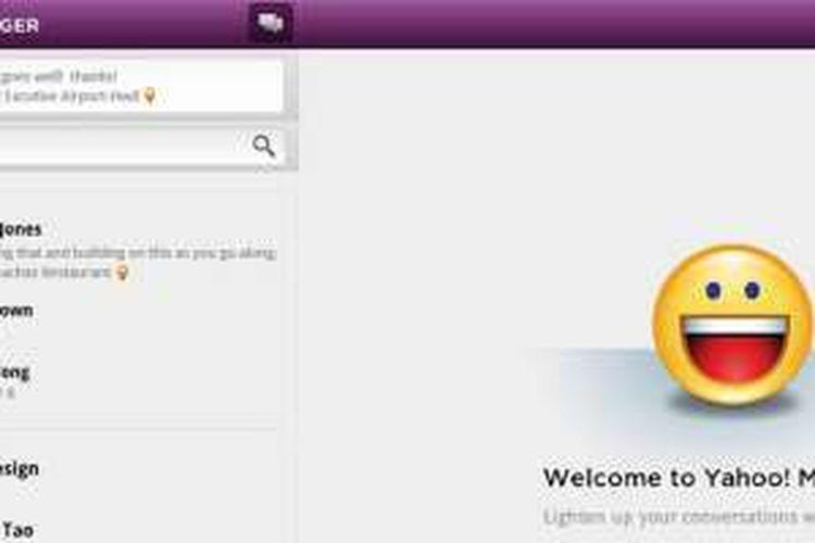 Tampilan Yahoo Messenger versi lama