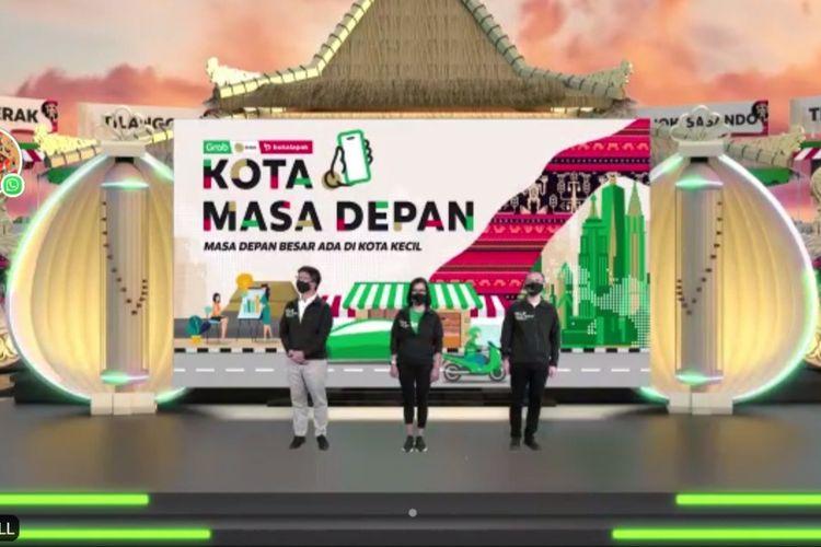Grab meluncurkan Program #KotaMasaDepan, Kamis (14/10/2021). (Tangkaoan Layar)