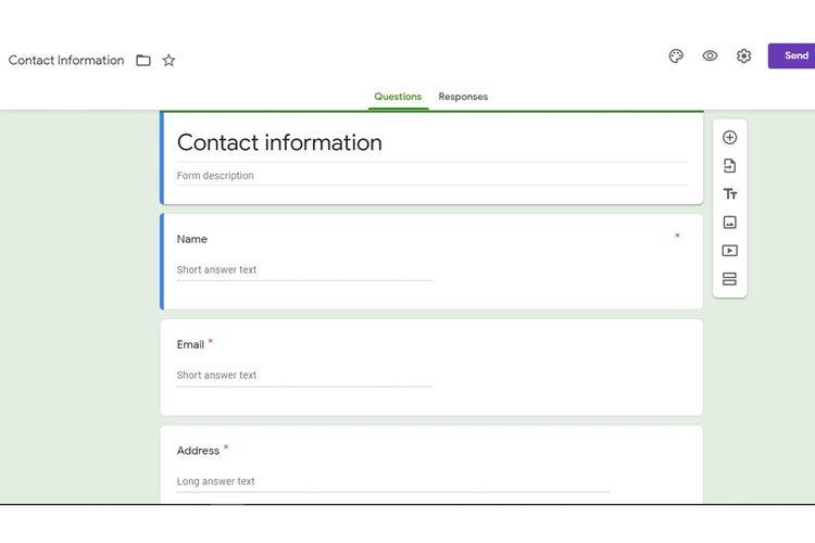 Tangkapan layar Google Forms