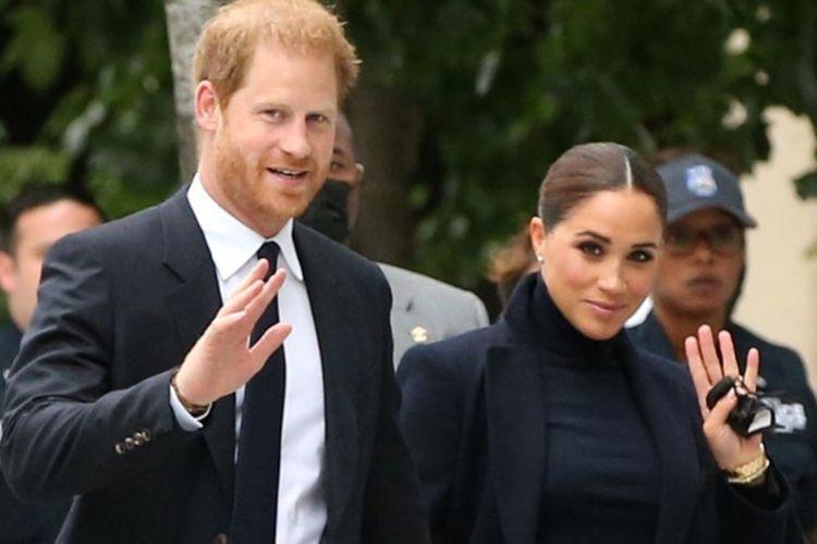 Pangeran Harry dan Meghan Markle saat mengunjungi kota New York, AS.
