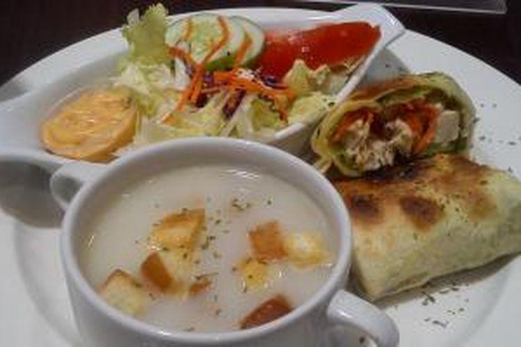 Hidangan Tortilla Wrap Untuk Vegetarian