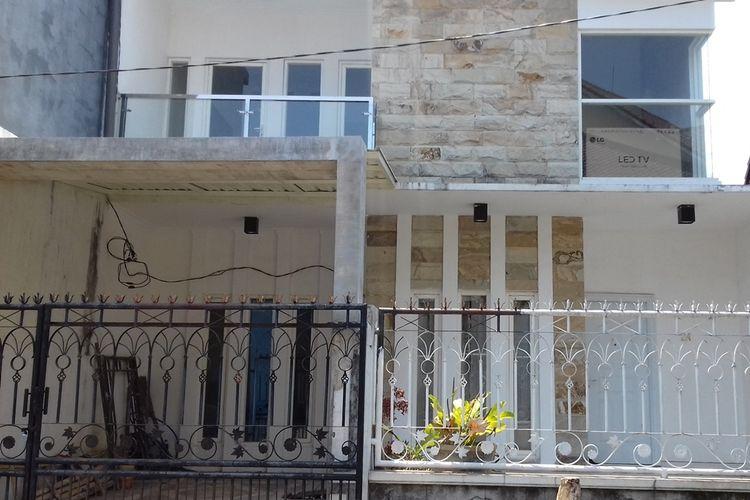 Rumah terduga teroris di Jalan Papa Biru Kota Malang, Kamis (17/10/2019)