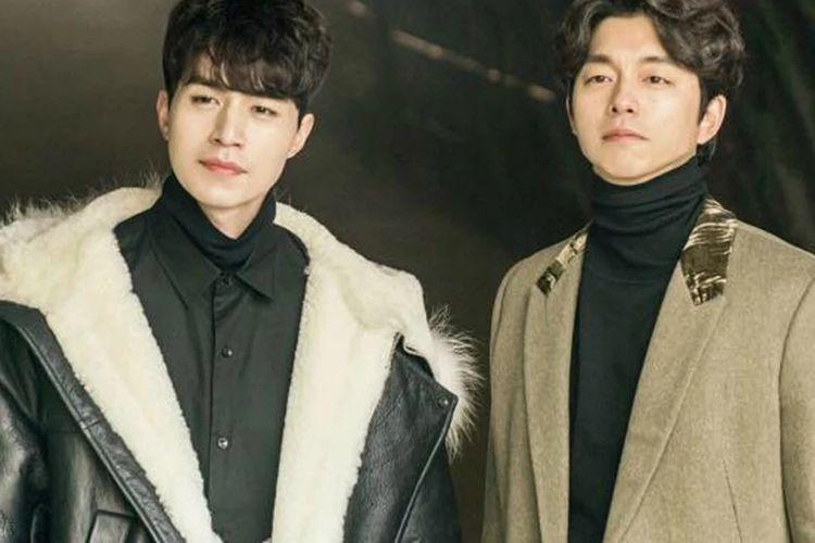 Aktor drama Korea Selatan Lee Dong Wook (kanan) dan Gong Yoo.