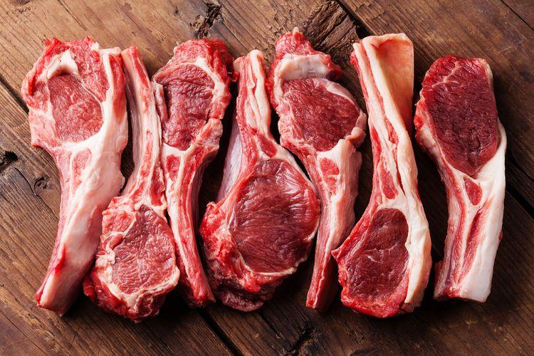 Ilustrasi daging domba mentah