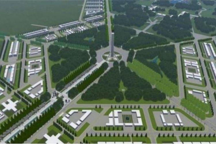 Desain pusat ibu kota baru sebagaimana dirancang Kementerian PUPR.