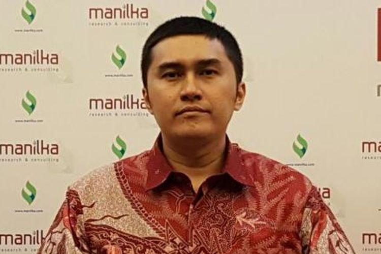 Managing Director Manilka, Herzaky Mahendra Putra di Hotel Cemara, Jalan KH Wahid Hasyim, Jakarta Pusat, Minggu (19/6/2016).