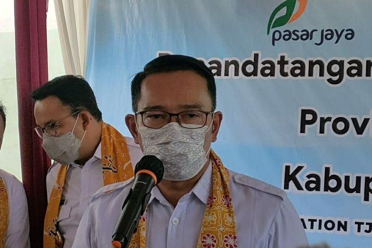 Gubernur Jawa Barat Ridwan Kamil di Sumedang, Jumat (11/6/2021). AAM AMINULLAH/KOMPAS.com