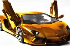 Lamborghini Aventador Emas Dipamerkan di Dubai