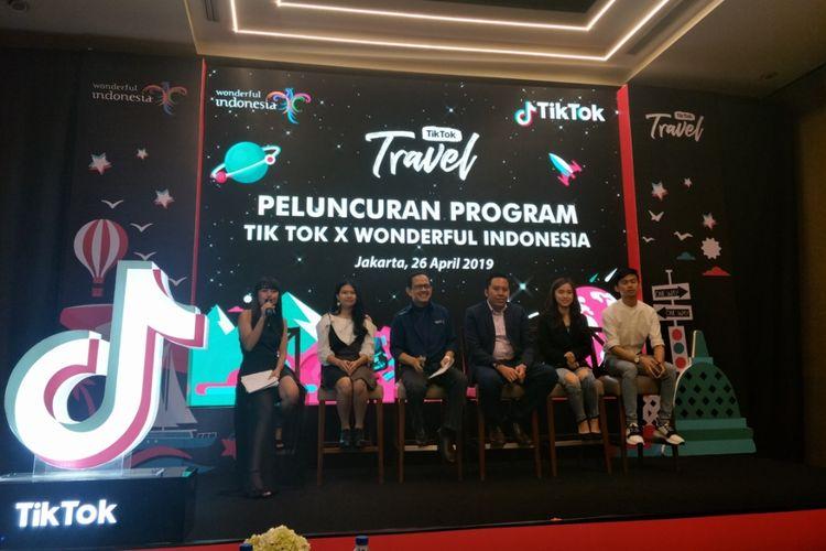 Peluncuran Tik Tok Travel di Hotel Pullman, Jakarta Pusat, Jumat (26/4/2019).
