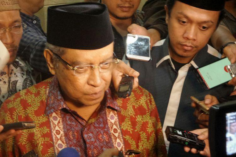 Ketua Umum Pengurus Besar Nahdlatul Ulama (PBNU) Said Aqil Siradj saat ditemui di kantor PBNU, Jakarta Pusat, Jumat (7/7/2017).