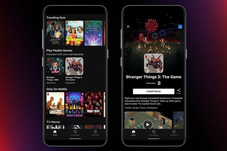 Ilustrasi layanan gaming yang dapat diakses melalui Netflix.