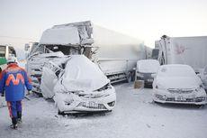 Tabrakan Beruntun 134 Mobil di Tol Jepang, Angin Kencang 100 Km Per Jam dan Salju Lebat