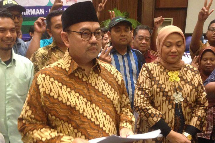 Sudirman Said dan Ida Fauziyah menyikapi hasil pleno KPU Jawa Tengah, Senin (9/7/2018).