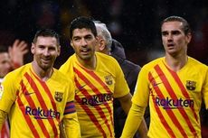 Line-up Barcelona Vs Atletico Madrid, Trio MSG Starter