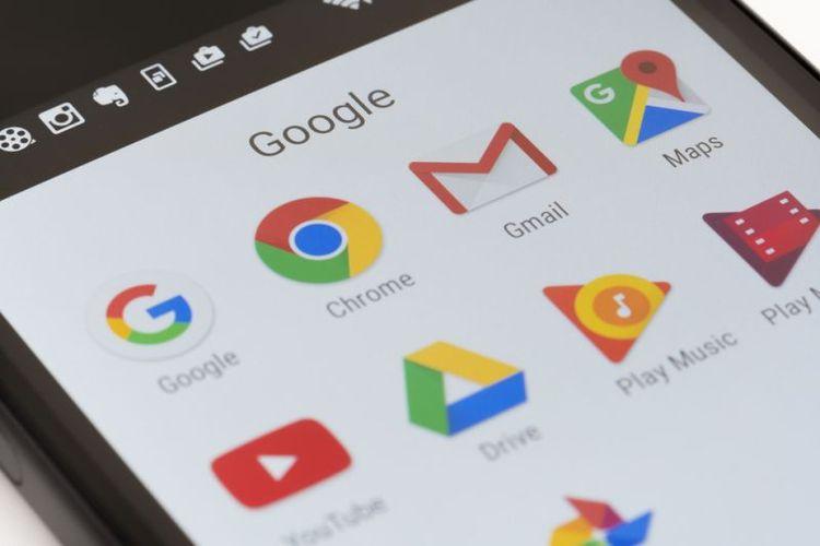 Ilustrasi sejumlah layanan milik Google