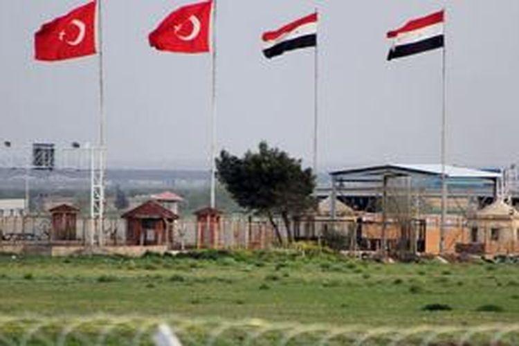 Perbatasan Turki dan Suriah.