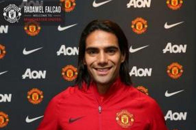 Striker anyar Manchester United, Radamel Falcao.