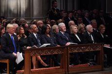 Saat Trump Bertemu 4 Mantan Presiden AS di Pemakaman George HW Bush...