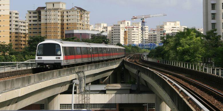 Ilustrasi MRT Singapura