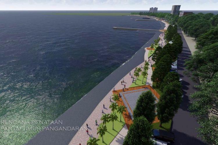 Rencana penataan Pantai Pangandaran.