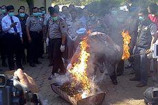 4,5 Kilogram Ganja Dibakar di Mapolda Jateng