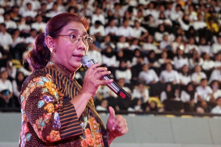 OKK UI 2018 menyelenggarakan seminar bertema ?Mengoptimalkan Potensi Indonesia.? dan mengundang Menteri Kelautan dan Perikanan Susi Pudjiastuti (13/5/2018).