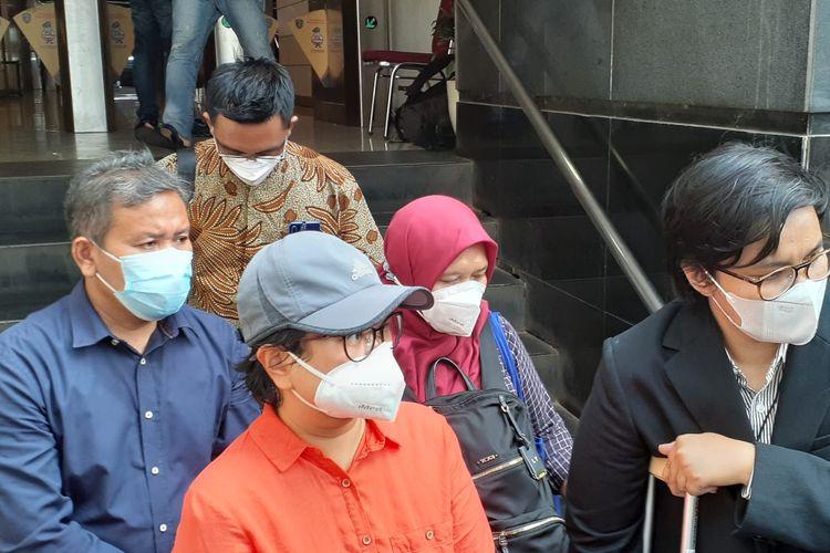 Pelapor Lina Yunita saat ditemui di Polda Metro Jaya usai mediasi dengan pihak David NOAH terkait dugaan penggelapan dan penipuan uang senilai Rp 1,150 miliar, Senin, (30/8/2021).