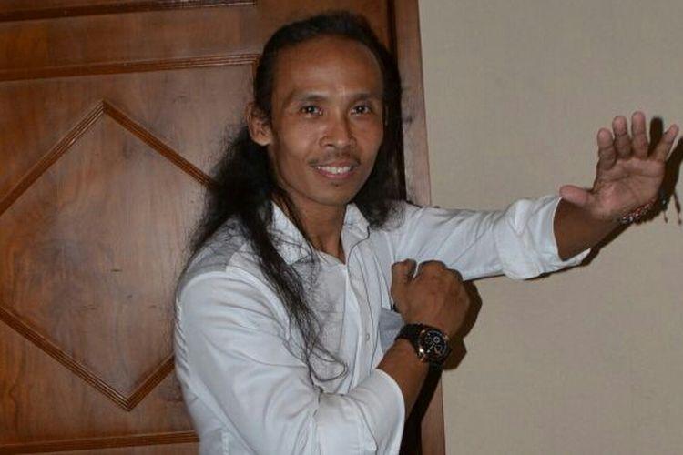 Yayan Ruhian diabadikan di JIExpo Kemayoran, Jakarta Pusat, Selasa (21/3/2017).