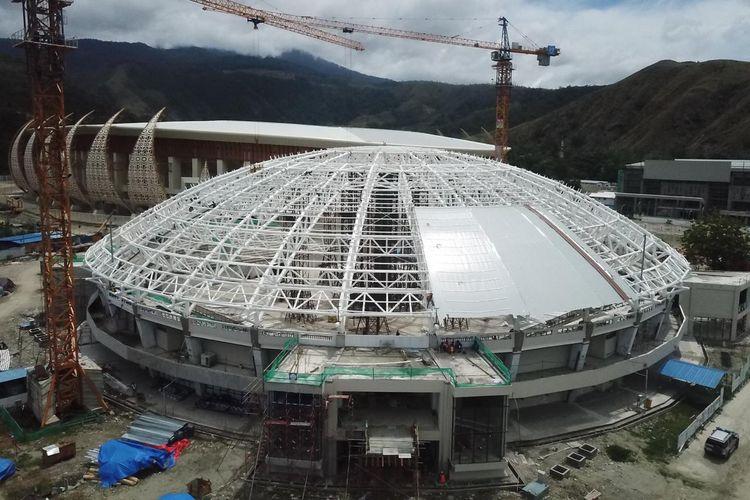 Di tengah pandemi Corona, pembangunan arena PON XX Papua tetap berlangsung