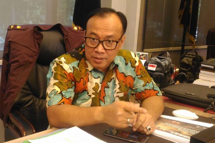 Kepala Biro Penerangan Masyarakat Humas Brigjen (pol) Dedi Prasetyo di Gedung Humas Mabes Polri, Jakarta, Jumat (1/3/2019).