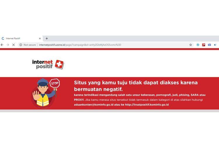 Kementerian Kominfo memblokir situsweb jurdil2019.org.