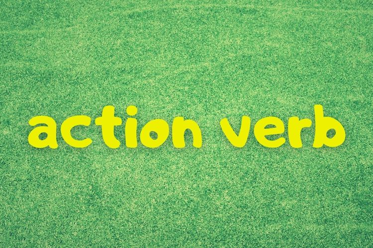 Ilustrasi tentang action verb.