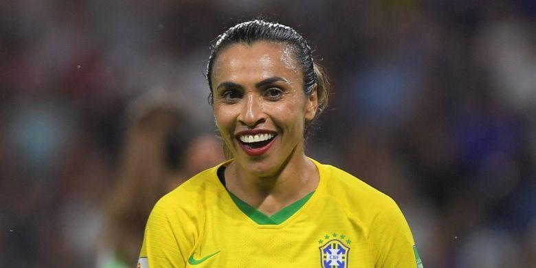 Marta, kapten tim sepak bola putri Brasil.