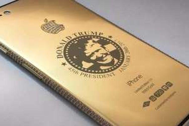 iPhone 7 versi Donald Trump berlapiskan emas dan berlian