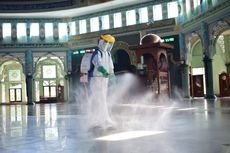 Masjid Raya Al Azhom Kota Tangerang Belum Gelar Shalat Jumat