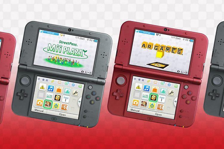 Ilustrasi perangkat konsol genggam Nintendo 3DS