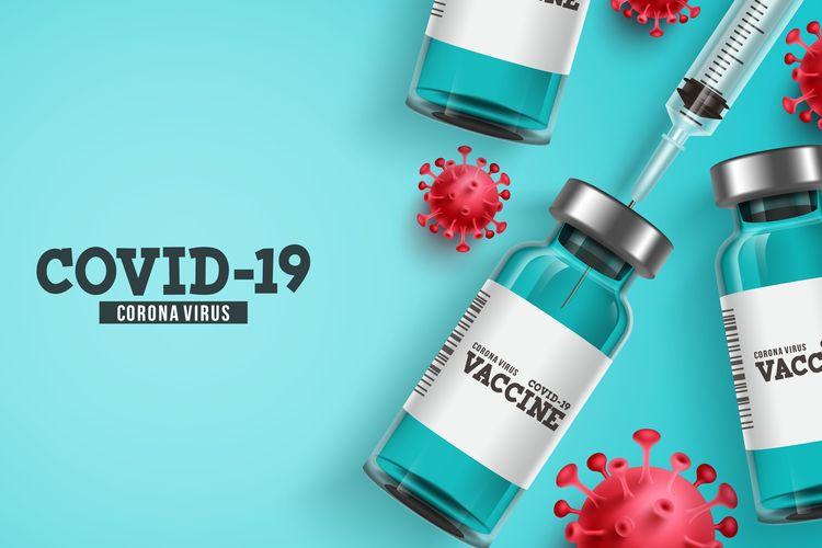 Ilustrasi vaksin corona, vaksin Covid-19, vaksin