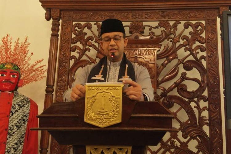 Gubernur DKI Jakarta Anies Baswedan di Balai Kota DKI Jakarta, Jalan Medan Merdeka Selatan, Jumat (2/8/2019).